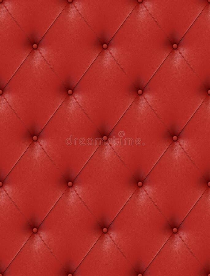 Upholstery de couro vermelho ilustração do vetor