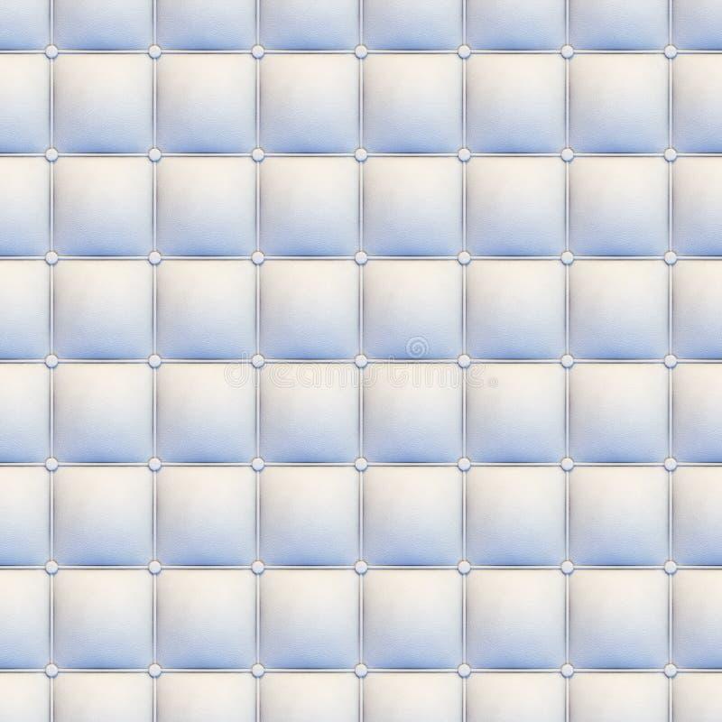 Upholstery do couro branco sem emenda ilustração stock