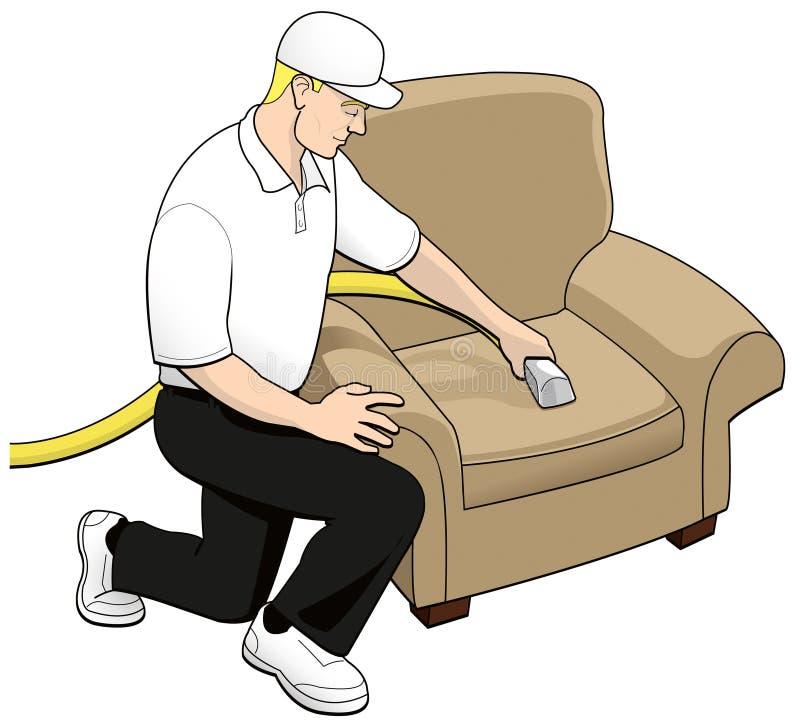 upholstery för tech för konstcleaninggem stock illustrationer