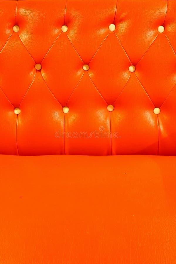 upholstery för orange red för läder royaltyfri foto