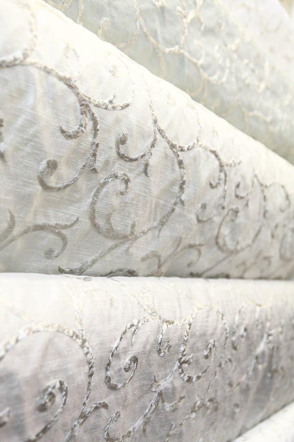 Upholstery och gardintyg arkivbild