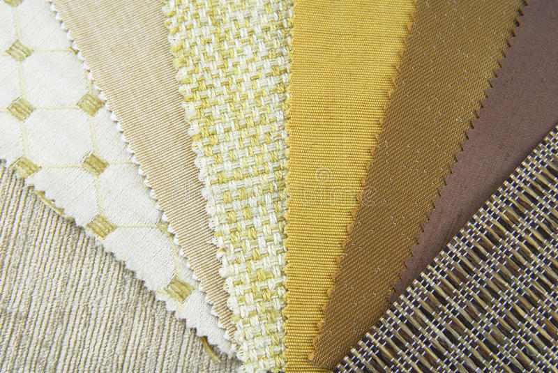 Upholstery samples. Home decoration repair upholstery planning samples royalty free stock image