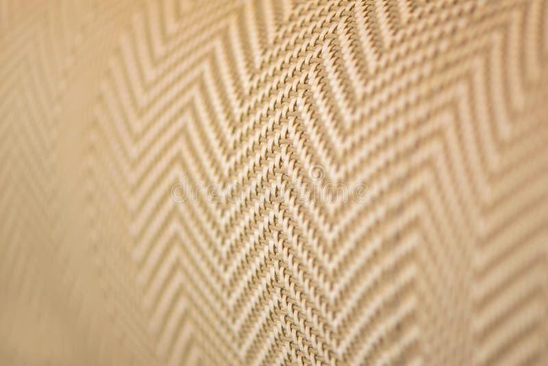 upholstery Slut upp tygtextur royaltyfria bilder