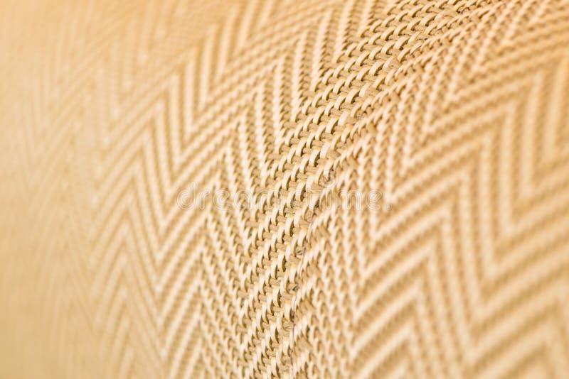 upholstery Slut upp tygtextur arkivbild