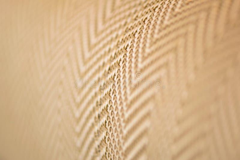 upholstery Slut upp tygtextur arkivfoto