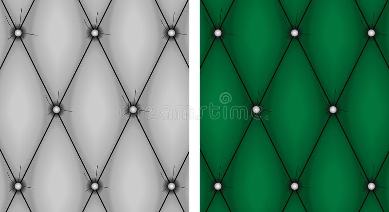 Upholstery texture. Gray and green upholstery texture vector illustration