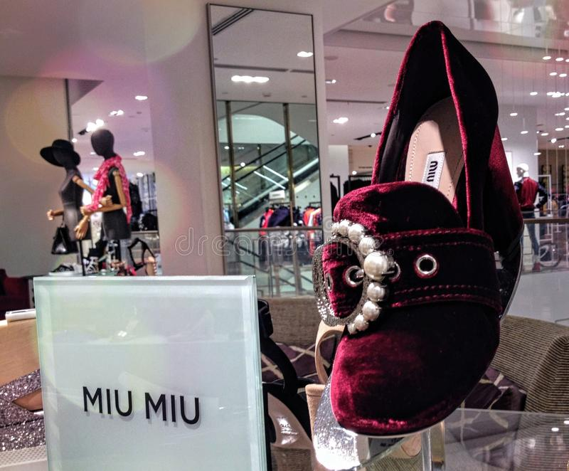 Upiększający aksamitny próżniak pompuje kobieta buty obraz stock