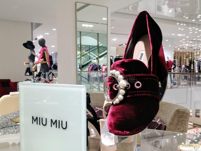Upiększający aksamitny próżniak pompuje kobieta buty zdjęcia stock
