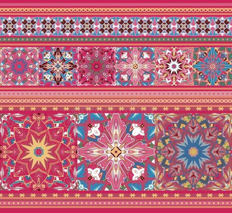 Upiększony dobry jak handmade ściegu Ukraina etniczny wzór ilustracji