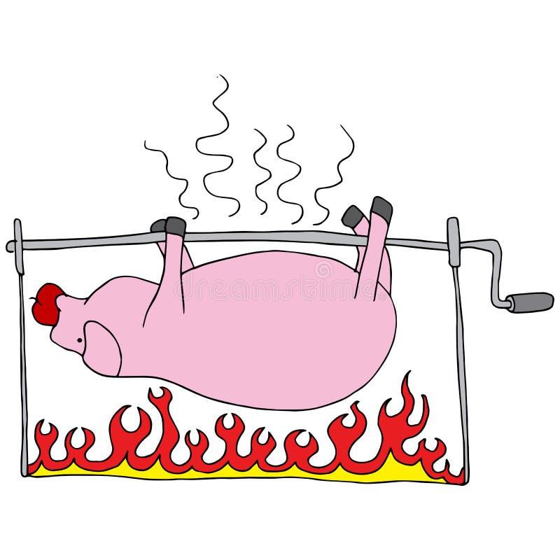 upiekłam świnia ilustracja wektor