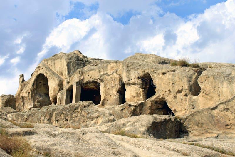 upliscikhe города каменное стоковые изображения