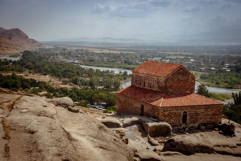 Uplistsikhe Is An Ancient Rock-hewn Town In Eastern Georgia. UNESCO World Heritage Site. Shida Kartli Region, Georgia. stock photo