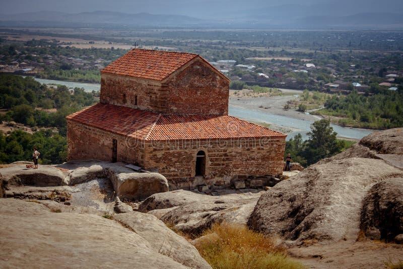 Uplistsikhe Is An Ancient Rock-hewn Town In Eastern Georgia. UNESCO World Heritage Site. Shida Kartli Region, Georgia. royalty free stock photography
