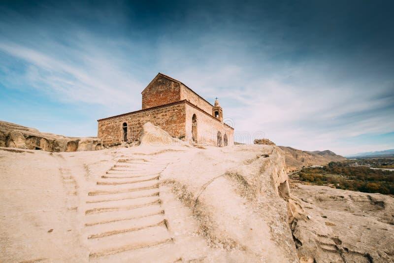 Uplistsikhe, région de Shida Kartli, la Géorgie Escalier en pierre à  photographie stock