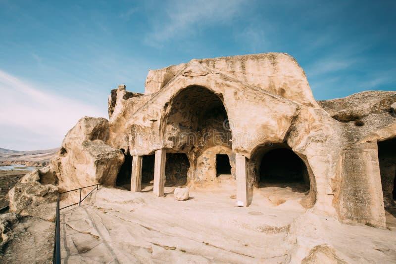 Uplistsikhe, région de Shida Kartli, la Géorgie Theateron en point de repère célèbre Uplistsikhe photographie stock