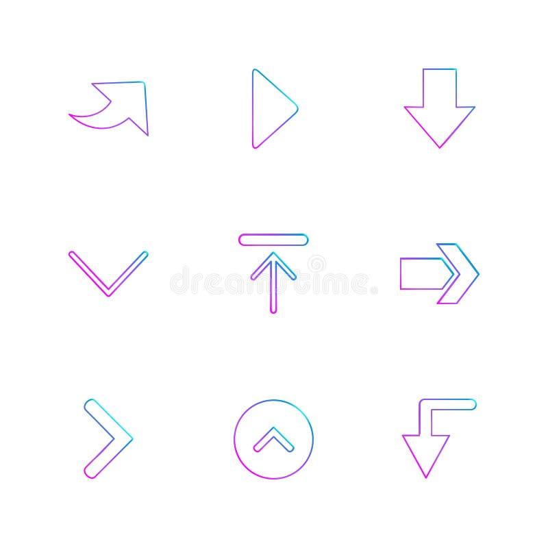 upload, ściąga, strzała, kierunki prawi, lewy, pointer ilustracji