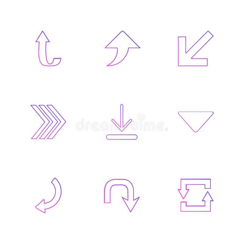 upload, ściąga, tylny, strzała, kierunki prawi, lewy, royalty ilustracja