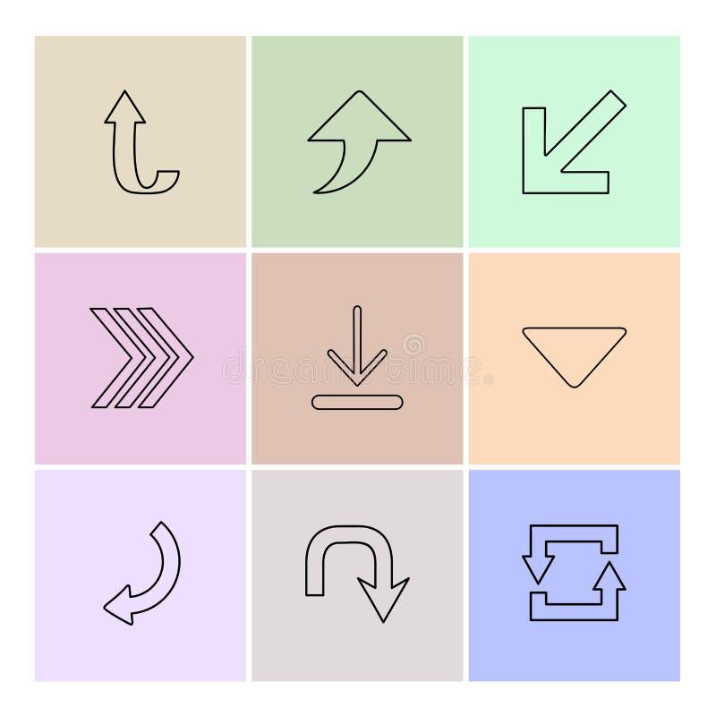 upload, ściąga, tylny, strzała, kierunki prawi, lewy, ilustracja wektor