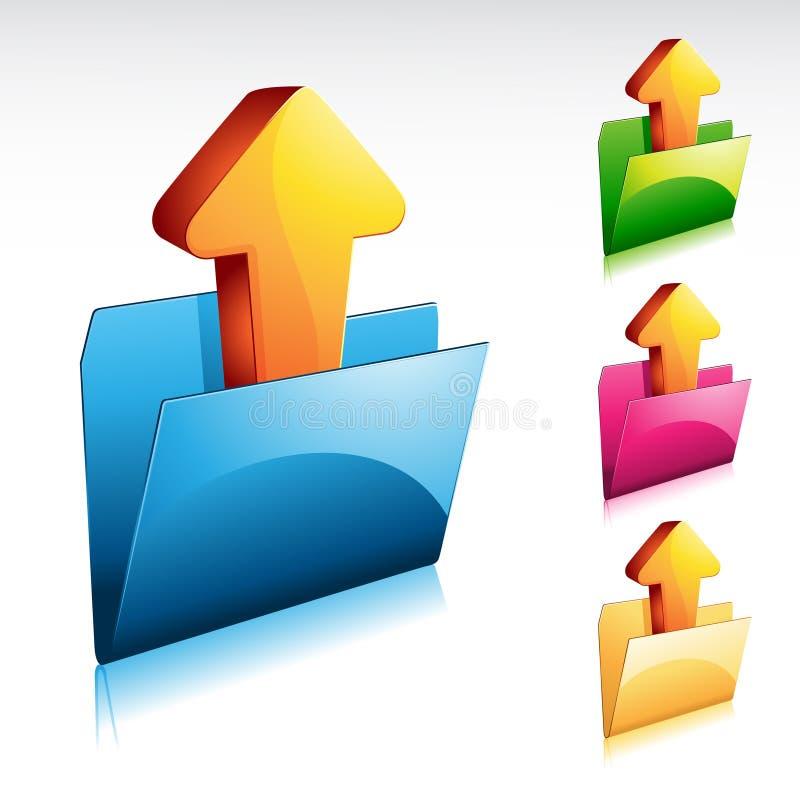 upload иконы скоросшивателя иллюстрация вектора
