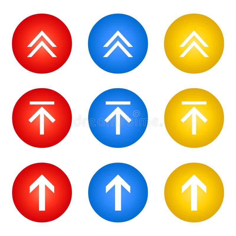 Upload bottons web download set vector illustration
