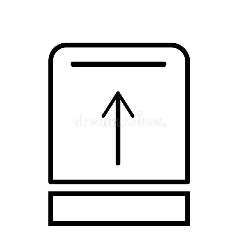 Upload button icon vector sign and symbol isolated on white background, Upload button logo concept royalty free illustration