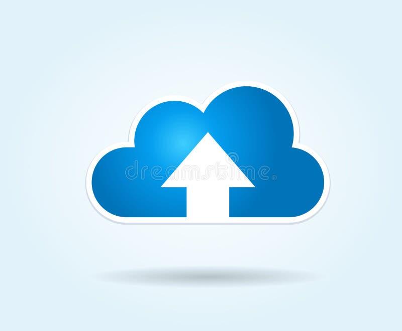Upload della nube illustrazione vettoriale
