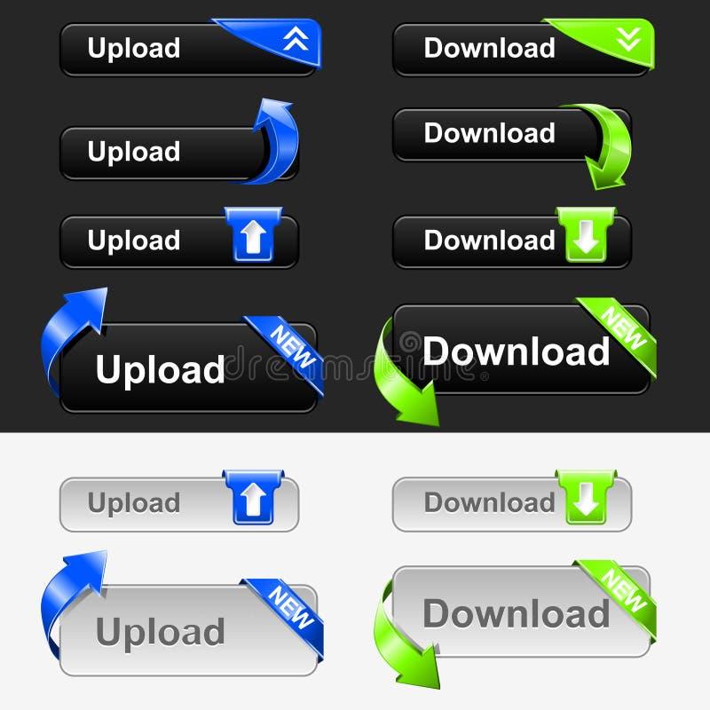 upload download кнопки установленный бесплатная иллюстрация