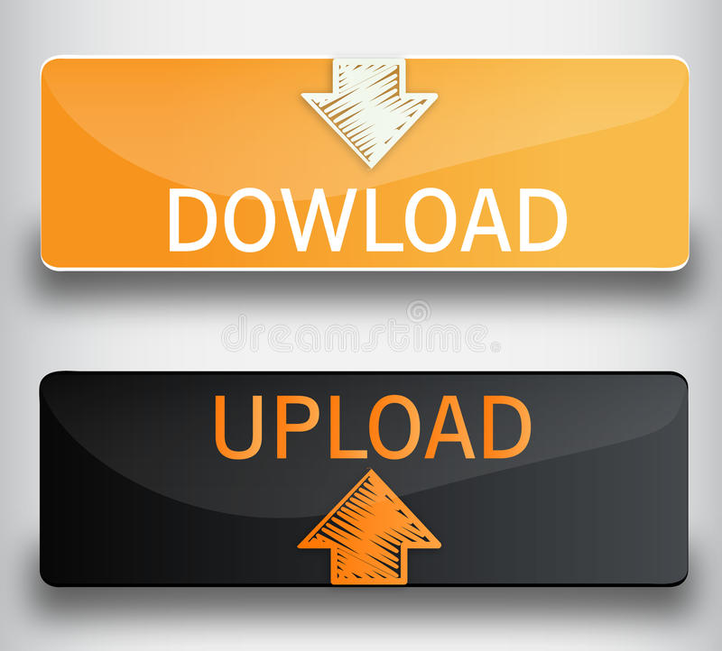 Upload, download buttons royalty free stock images