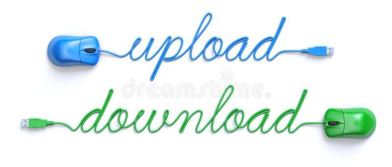 Upload - download concept vector illustratie