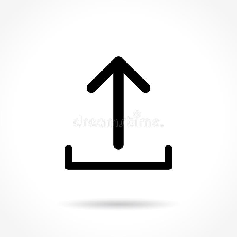 Upload dun lijnpictogram vector illustratie