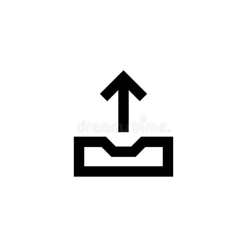 Upload en download pictogram Aandeelteken vector illustratie