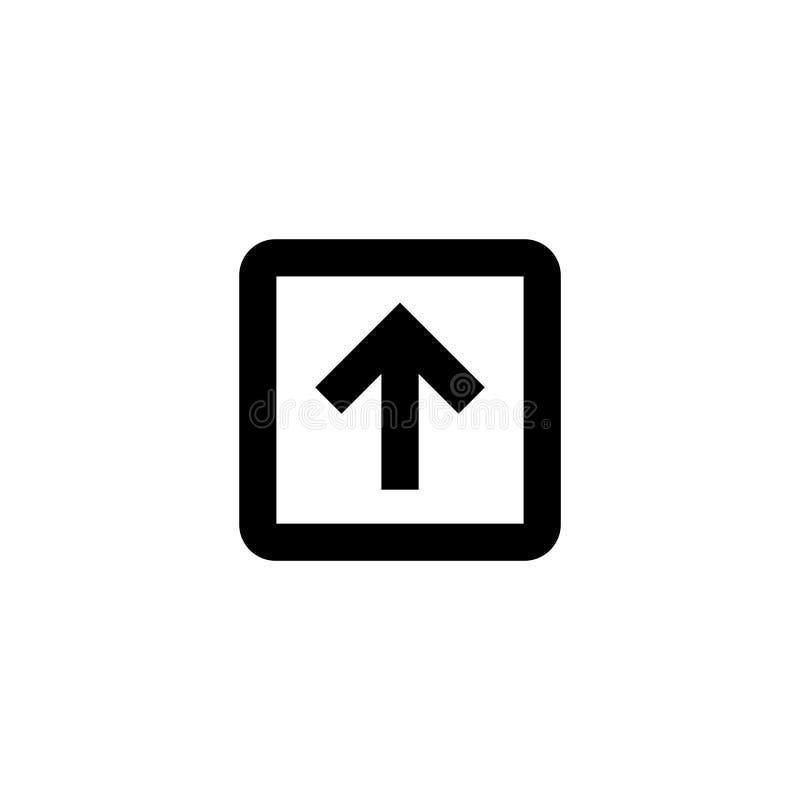 Upload en download pictogram Gehechtheidsteken stock illustratie