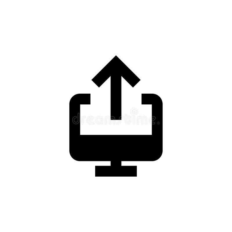 Upload en download pictogram Gehechtheidsteken royalty-vrije illustratie
