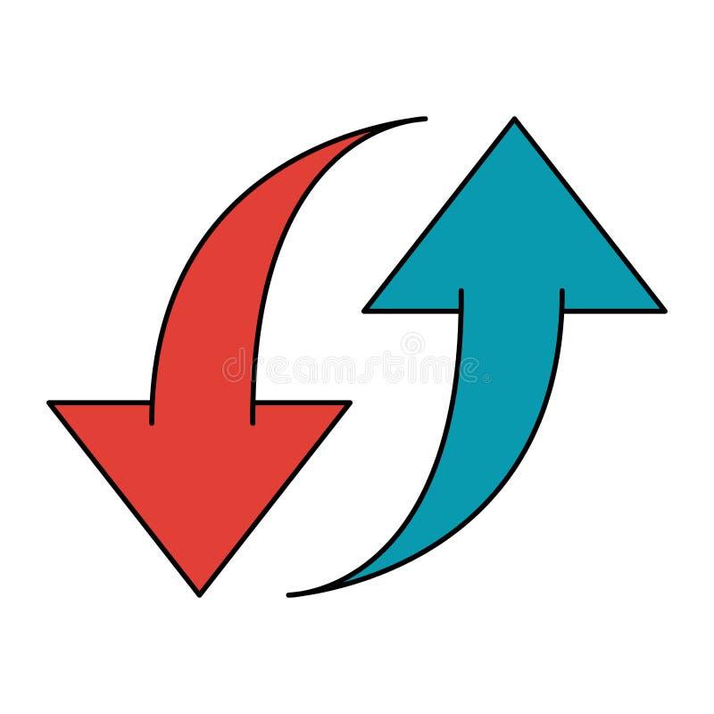 Upload en download symbool vector illustratie
