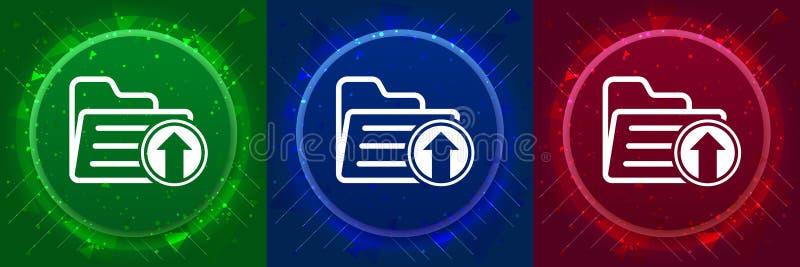 Upload files icon elegant modern design abstract buttons set illustration vector illustration