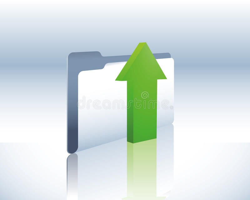 Download Upload folder stock vector. Image of organize, mail, office - 10677656