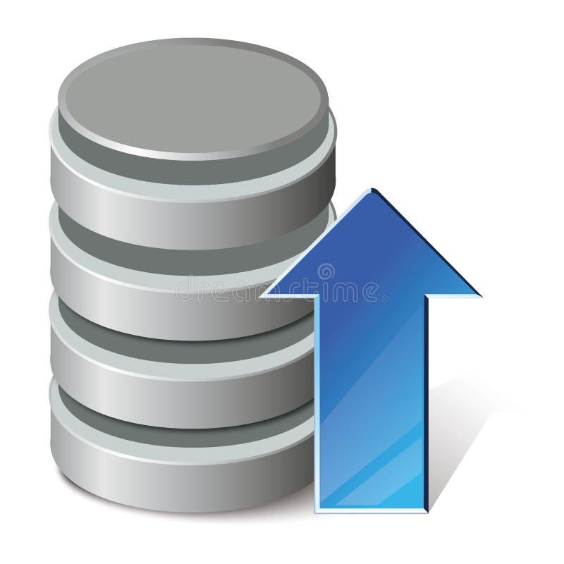 Upload gegevensbestand stock illustratie