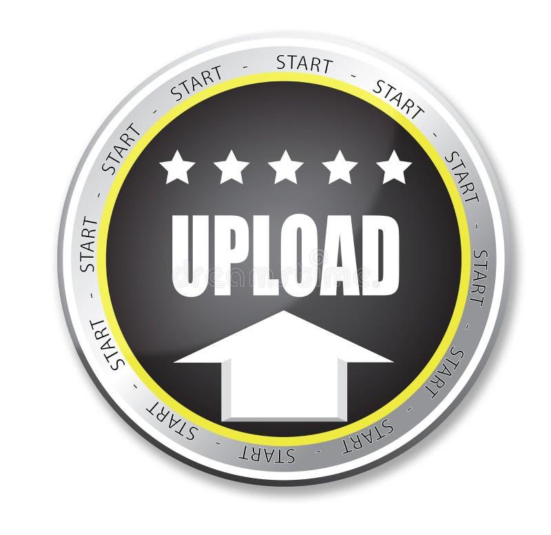 Upload knoop vector illustratie