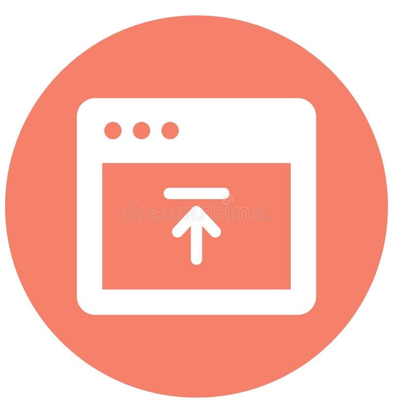 Upload met betrekking tot Webbrowservensters en volledig editable knoopvector royalty-vrije illustratie