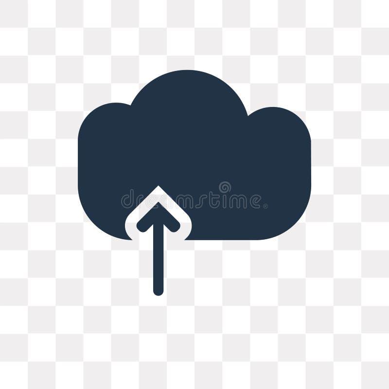 Upload Obłoczna wektorowa ikona odizolowywająca na przejrzystym tle, ilustracji