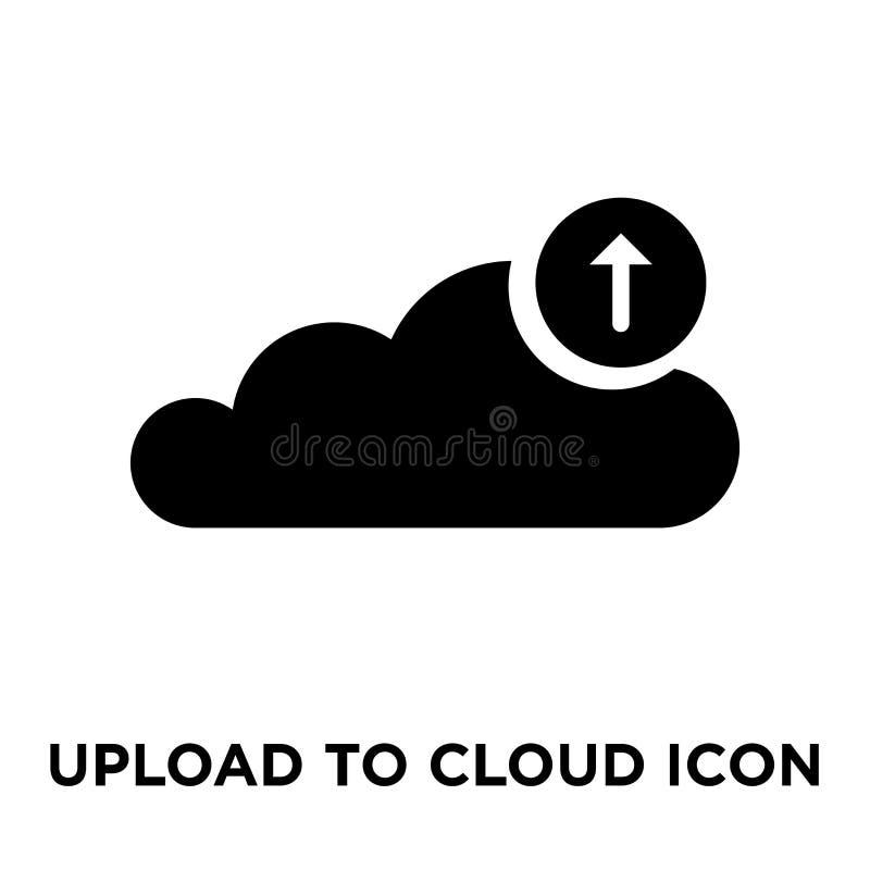 Upload Obłoczny ikona wektor odizolowywający na białym tle, logo c ilustracji