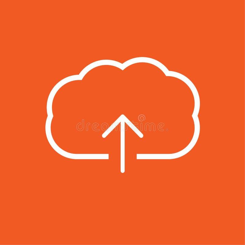 Upload pictogram eenvoudige vectorillustratie vector illustratie
