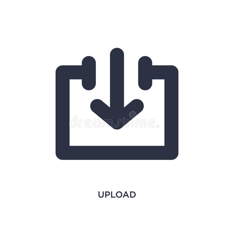 Upload pictogram op witte achtergrond Eenvoudige elementenillustratie van pijlen 2 concept royalty-vrije illustratie