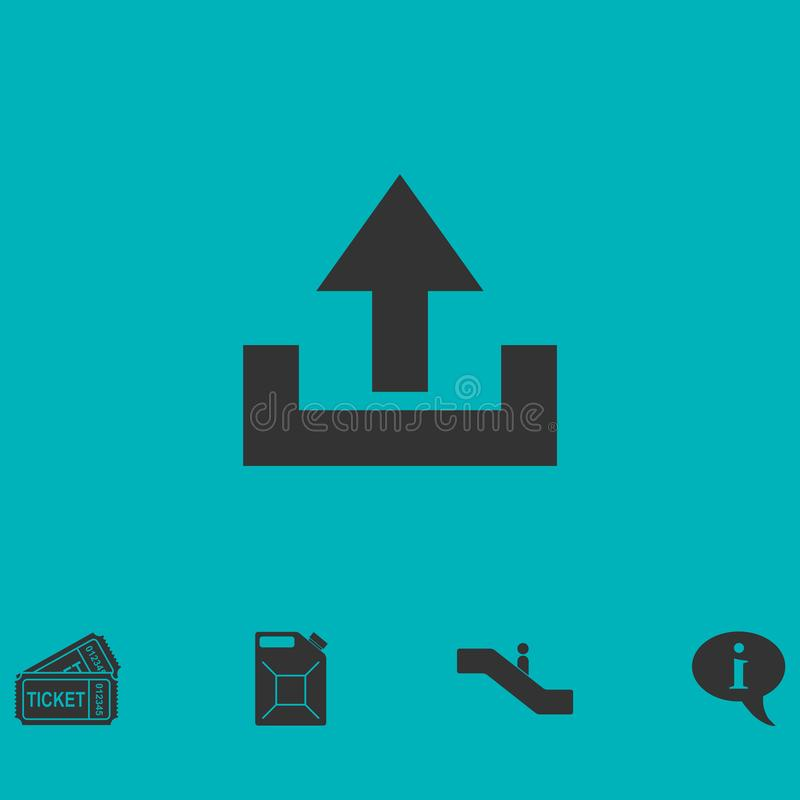 Upload pictogramvlakte royalty-vrije illustratie