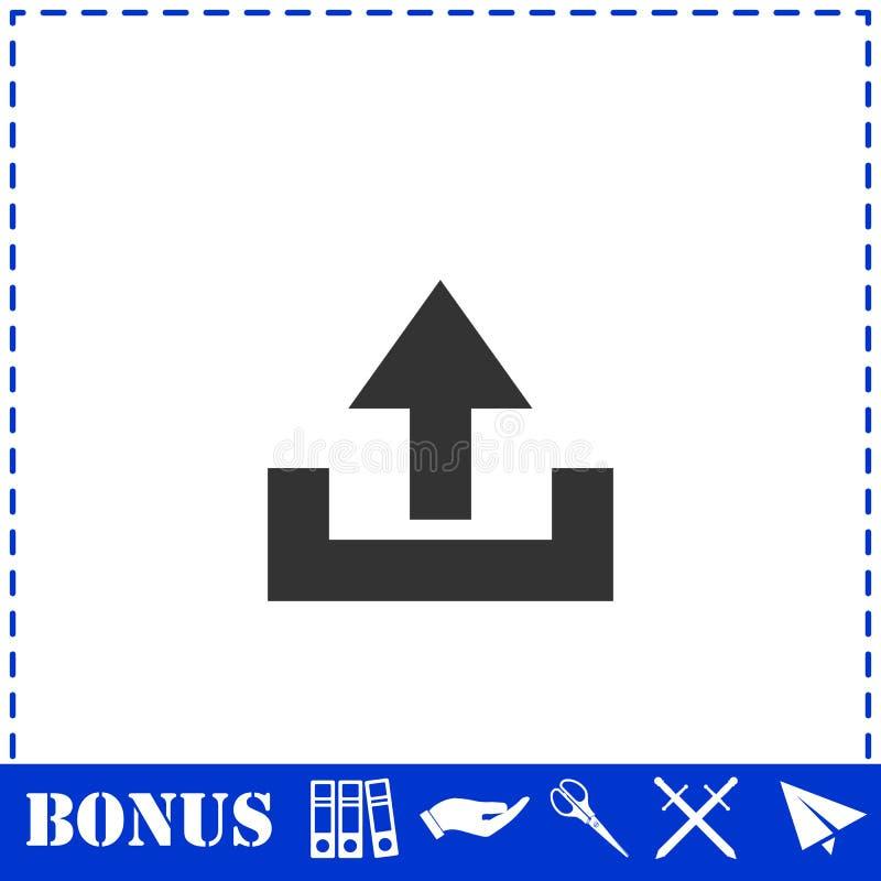 Upload pictogramvlakte stock illustratie