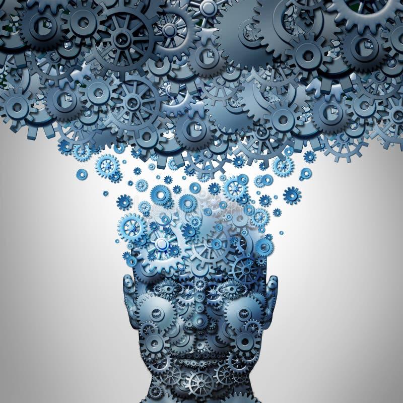 Upload Twój umysł ilustracja wektor