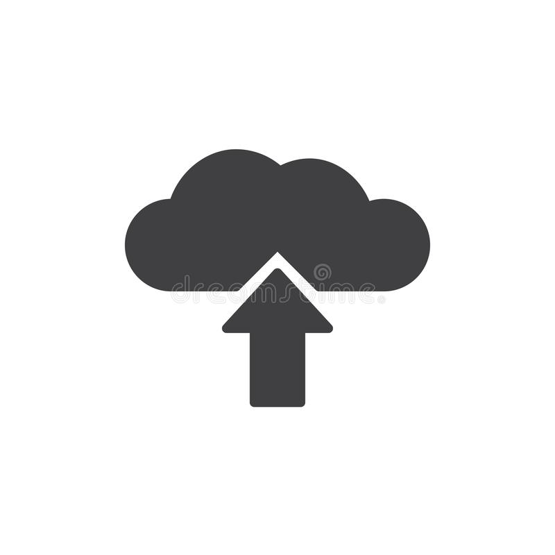 Upload van de vector van het wolkenpictogram stock illustratie
