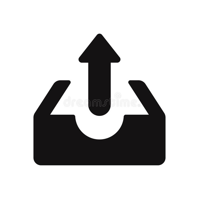 Upload vector icon. Upload sign in trendy design style stock illustration