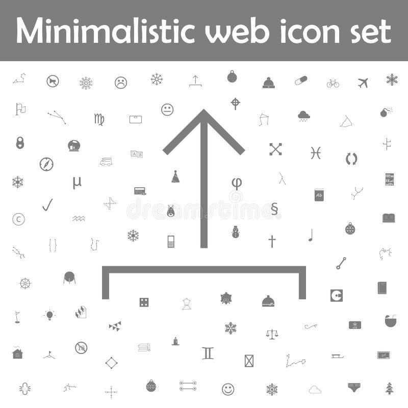 Upload vector icon. Web, minimalistic icons universal set for web and mobile. On white background royalty free illustration