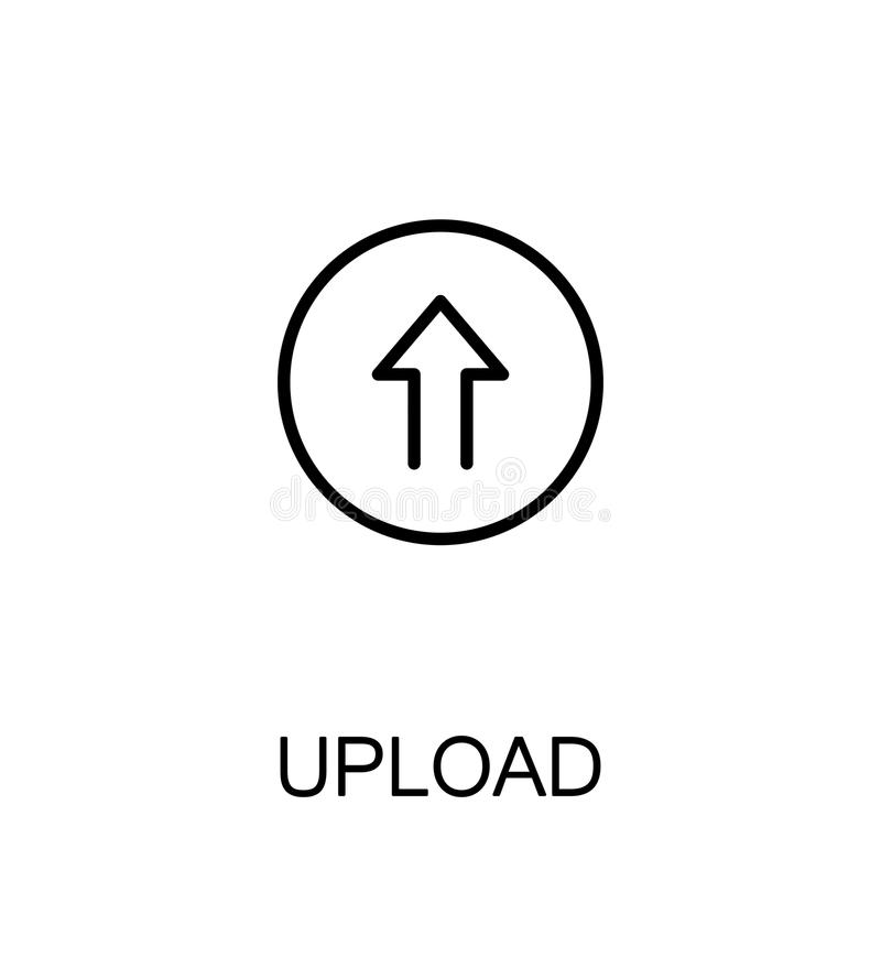 Upload vlak pictogram vector illustratie